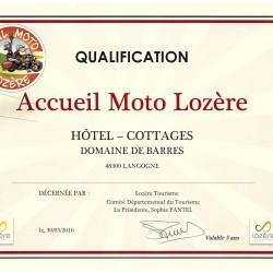 Qualification «Accueil Moto Lozère»