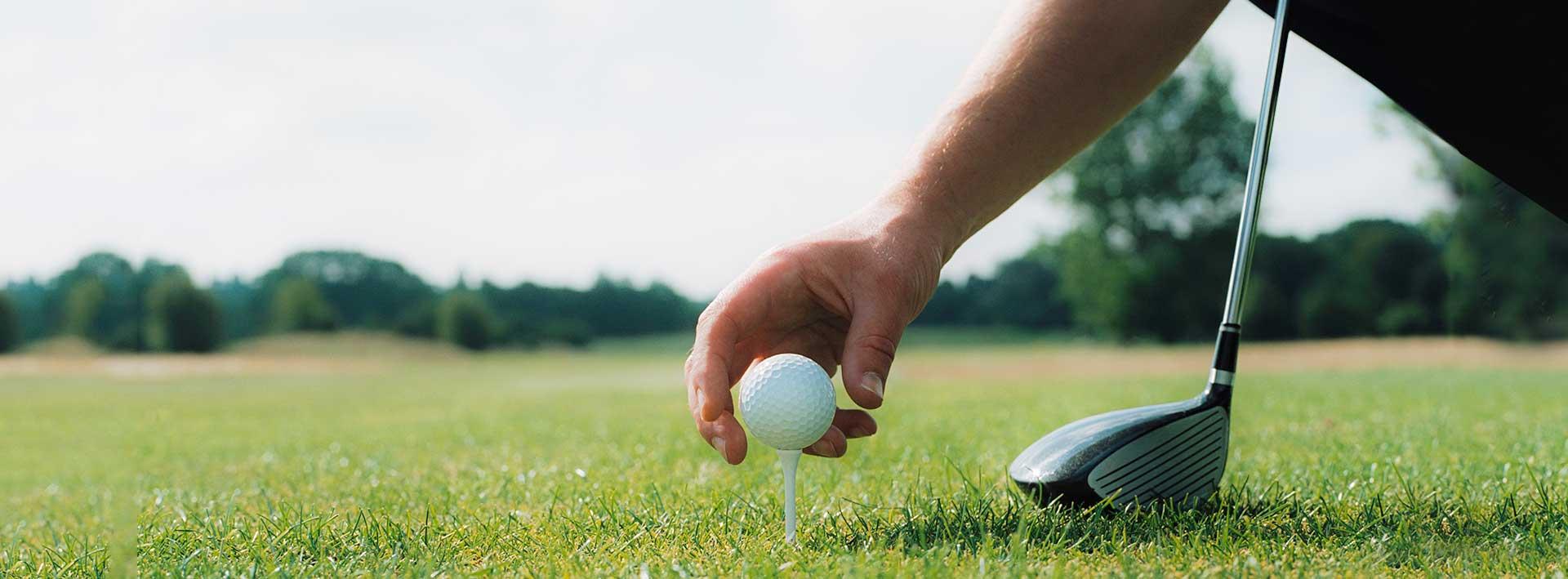 golfeur debutant